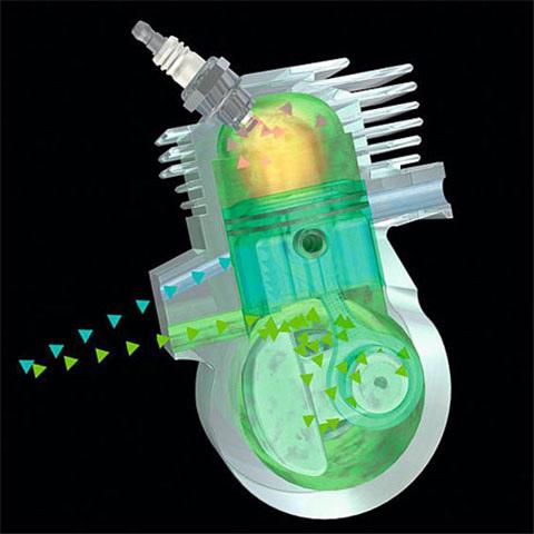 STIHL 2-MIX двигатель с послойным продувки