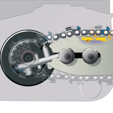 Sistema Ematic per lubrificazione catena