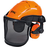 Casque ADVANCE avec grillage en nylon