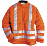 High visibility jacket with cut protection