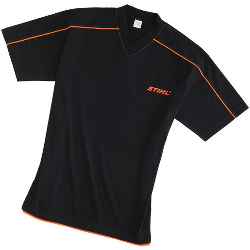 T Shirt - V Neck - Black - XXL