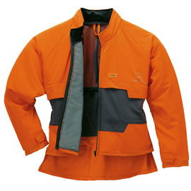 Vestes anti-coupure ADVANCE, anthracite/orange