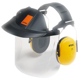 Kombinovaná ochrana obličeje/sluchu, s plastovým š