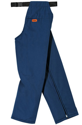 Ringsum-Beinschutz, blau