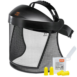 Комплект для защиты лица с металлической сеткой
