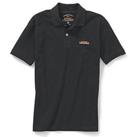 Тениска с яка, черна