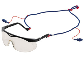 Set aus Brille und Stöpsel