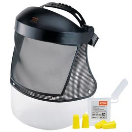 Protezione per il viso, lunga, reticella in nylon