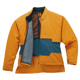 Veste à renforts anticoupures ADVANCE, vert/orange