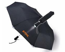 Чадър, сгъваем с вградено фенерче