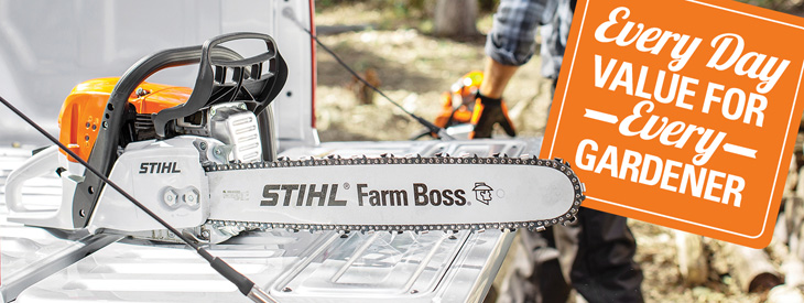 STIHL Chainsaw - best garden tools, best prices. Every day