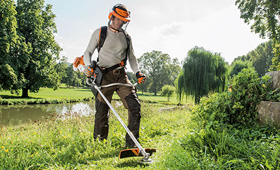 Petrol brushcutters for landscape maintenance
