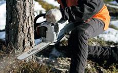 Motosierras de gasolina para trabajos forestales