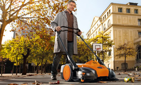 Cordless power systems sweepers