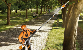 Cordless Li-Ion telescopic pole pruner