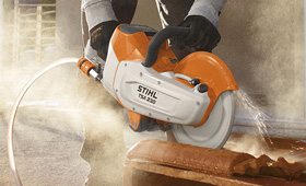 Cordless power systems cut-off machines