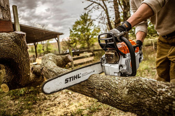 Chain saws and pole pruners