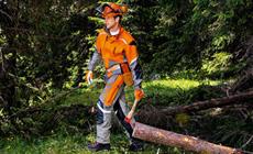 Waldarbeitsanzüge mit Schnittschutzhose