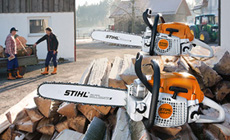 Gas chain saws for farming and landscaping