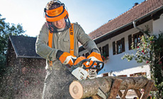 Petrol chainsaws for property maintenance