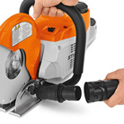 Suction of battery-powered and electric power tool