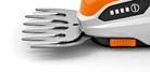 Werkzeugloser Messerwechsel