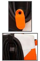 Clip para armazenagem do cabo de energia