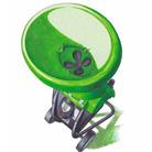 Завантажувальна воронка з отвором у формі листка к