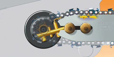 Innovative chain lubrication system