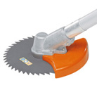 Guard for circular saw blades (stop and guard)