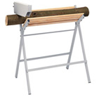 Cross-cutting sawhorse