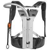 Super harness for long reach hedge trimmers