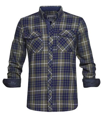 Flanelová košile modrá/károvaná