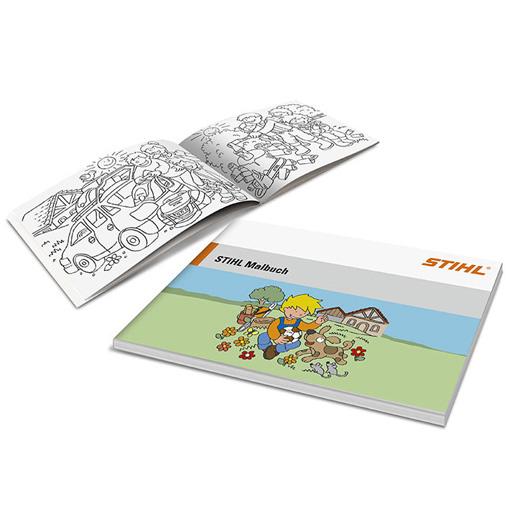 Kleurboek met kleurpotloden