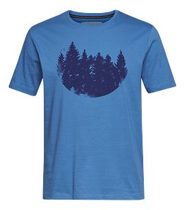 Pánské tričko FIR FOREST modré