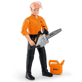 Forestry worker play figure
