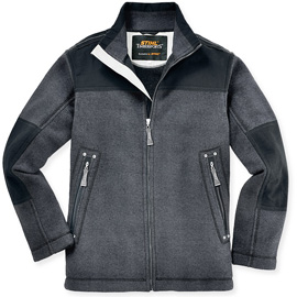 Canvas-Fleece-Jacke
