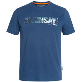 Chainsaw t-shirt, blue