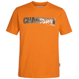 Chainsaw t-shirt, orange