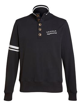 Sweat-shirt TROYER CONTRA noir
