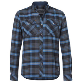 Koszula w niebieską kratę