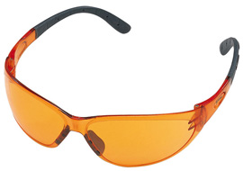 Contrast safety glasses - orange