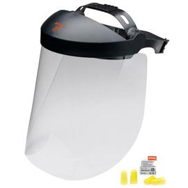 Gesichtsschutz lang mit Kunststoffscheibe
