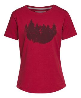 Dámské tričko FIR FOREST červené