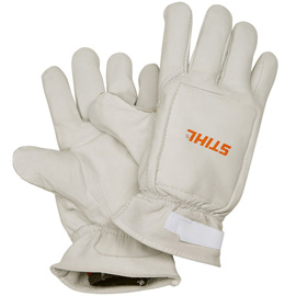 Chain saw gloves with cut protection - Leather