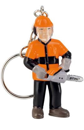 Forestry worker keyring