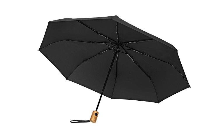 Skládací deštník s bambusovou rukojetí COLORMAGIC