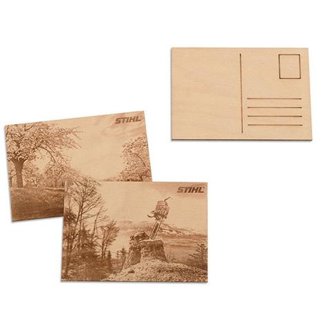 Набор деревянных открыток