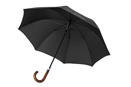 Walking stick umbrella with wooden handle