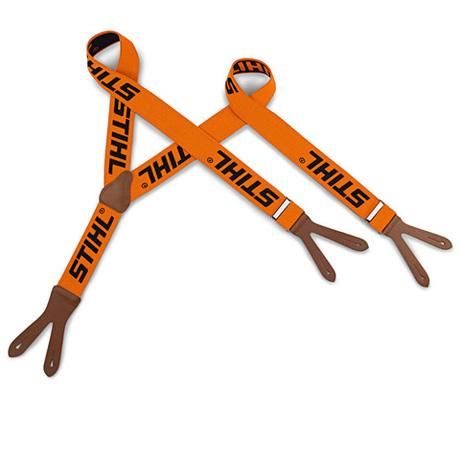 Bretelles, orange, à boutonner